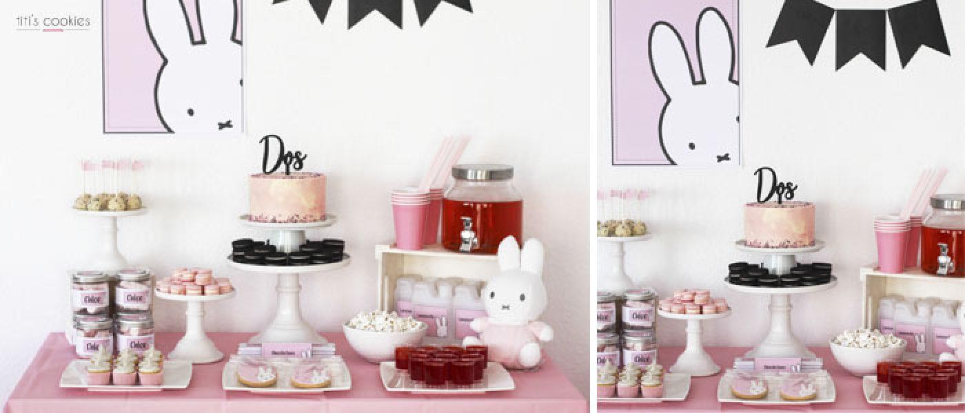 Mesa de dulces Cumpleaños Miffy